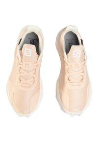 Beżowe buty do biegania salomon z cholewką, Gore-Tex