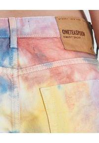 ONETEASPOON - Spodenki Rainbow Bandits. Stan: podwyższony. Kolor: niebieski. Materiał: jeans. Wzór: aplikacja #5