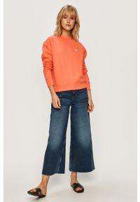 Różowa bluza Calvin Klein Jeans casualowa, na co dzień
