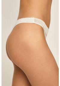Białe majtki Calvin Klein Underwear w koronkowe wzory