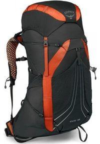 OSPREY plecak trekkingowy EXOS 48 II blaze black LG. Kolor: czarny. Wzór: paski