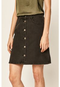 only - Only - Spódnica jeansowa. Okazja: na co dzień. Kolor: szary. Materiał: jeans. Styl: casual