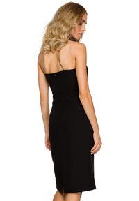 MOE - Elegancka asymetryczna sukienka na wyjątkowe okazje. Typ kołnierza: dekolt gorset. Materiał: materiał, elastan. Typ sukienki: asymetryczne. Styl: elegancki
