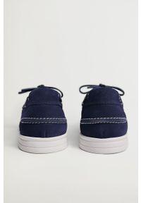Mango Man - Półbuty zamszowe SAIL. Nosek buta: okrągły. Zapięcie: sznurówki. Kolor: niebieski. Materiał: zamsz