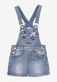 Born2be - Niebieska Spódnica Messophe. Kolor: niebieski. Materiał: jeans. Wzór: haft, aplikacja. Sezon: lato. Styl: sportowy, elegancki