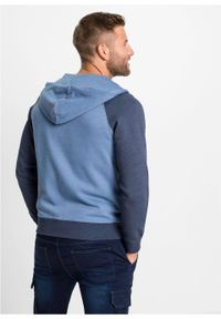 Niebieska bluza bonprix z kapturem, melanż