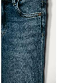 Niebieskie jeansy Pepe Jeans w kolorowe wzory, z podwyższonym stanem