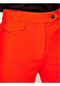 Pomarańczowe spodnie materiałowe Victoria Victoria Beckham