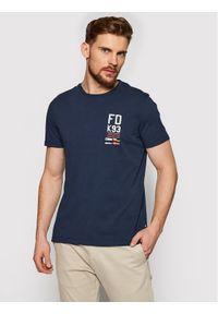 Musto T-Shirt Fd K93 Tee 81181 Granatowy Regular Fit. Kolor: niebieski