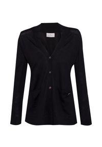 Czarny sweter Conte of Florence w kolorowe wzory, elegancki