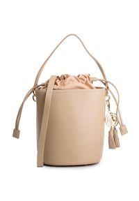 Beżowa torebka klasyczna Kazar na lato, skórzana