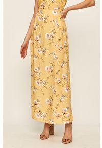 Roxy - Spódnica. Kolor: żółty. Materiał: tkanina