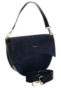 Niebieska torebka ROVICKY klasyczna, z tłoczeniem