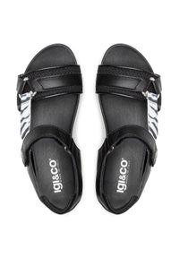 Czarne sandały Igi & Co