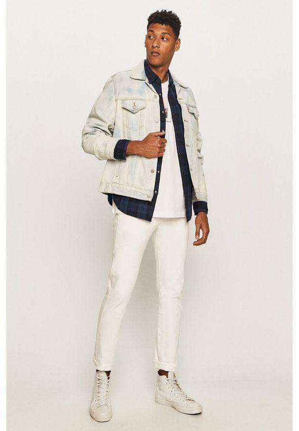 Niebieska kurtka Levi's® bez kaptura, w kolorowe wzory, casualowa, na co dzień