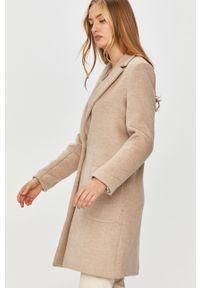Beżowy płaszcz Answear Lab bez kaptura, na co dzień, wakacyjny