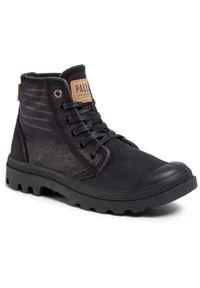 Czarne buty trekkingowe Palladium z cholewką