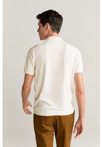 Biała koszulka polo Mango Man casualowa, na co dzień, polo #7