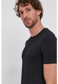 Drykorn - T-shirt (2-pack). Okazja: na co dzień. Kolor: czarny. Materiał: dzianina. Wzór: gładki. Styl: casual