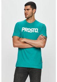 Miętowy t-shirt Prosto. z nadrukiem, casualowy