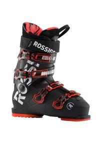 Rossignol - Buty zjazdowe Track 80. Zapięcie: klamry. Kolor: czarny, wielokolorowy, czerwony. Materiał: materiał. Sport: turystyka piesza