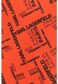 Czerwony strój kąpielowy Karl Lagerfeld z odpinanymi ramiączkami