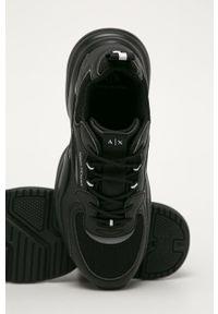 Czarne sneakersy Armani Exchange z cholewką, na sznurówki