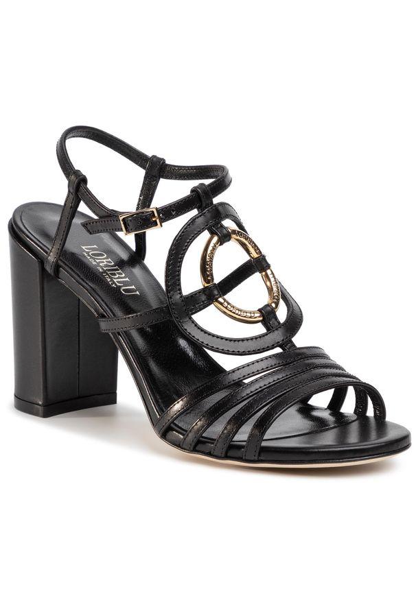 Czarne sandały Loriblu z aplikacjami, casualowe, na co dzień