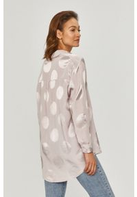 Fioletowa koszula Answear Lab długa, na co dzień, z długim rękawem, z klasycznym kołnierzykiem