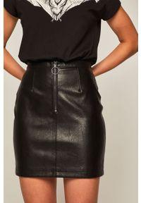 Czarna spódnica medicine na co dzień, casualowa, z podwyższonym stanem