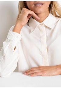 Biała bluzka bonprix z długim rękawem, długa