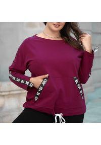 Bluza Moda Size Plus Iwanek krótka, do pracy, klasyczna, z klasycznym kołnierzykiem