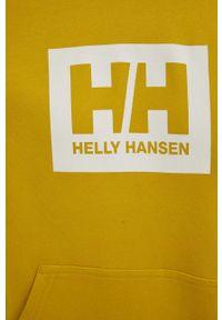 Helly Hansen - Bluza bawełniana. Okazja: na co dzień. Kolor: żółty. Materiał: bawełna. Wzór: nadruk. Styl: casual