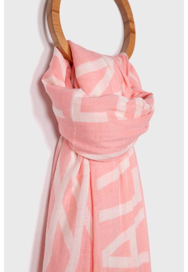 Różowy szalik Calvin Klein Jeans