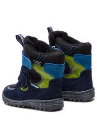 Niebieskie buty zimowe Mido z cholewką
