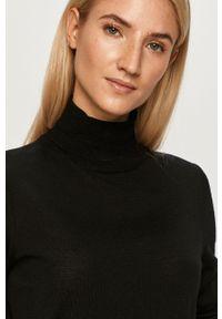 Czarny sweter Hugo casualowy, długi, z długim rękawem, na co dzień