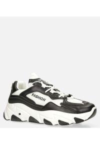 Casu - Czarne buty sportowe sneakersy sznurowane casu 204/33b. Kolor: czarny