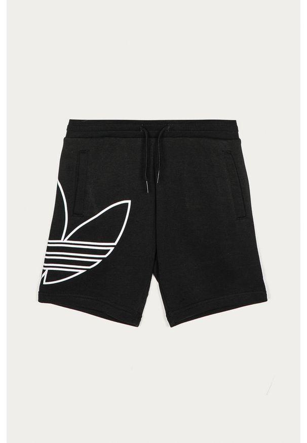 Czarne spodenki adidas Originals na co dzień, casualowe