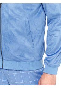 Niebieska kurtka TOP SECRET w kolorowe wzory, krótka