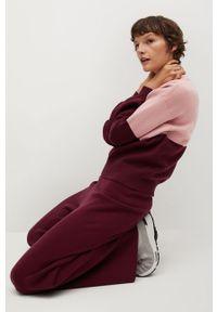 Różowy sweter mango casualowy, na co dzień, z długim rękawem