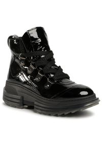 Gino Rossi - Sneakersy GINO ROSSI - 6348 Black. Okazja: na spacer. Kolor: czarny. Materiał: lakier, skóra. Szerokość cholewki: normalna. Sezon: lato. Obcas: na koturnie. Styl: elegancki. Wysokość obcasa: średni
