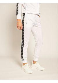 Białe spodnie dresowe Kappa