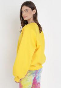 Born2be - Żółta Bluza Adrassa. Kolor: żółty