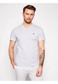 Lacoste T-Shirt TH2036 Szary Regular Fit. Kolor: szary
