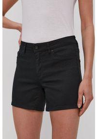Vero Moda - Szorty. Kolor: czarny. Materiał: tkanina