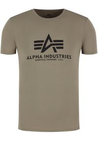 Alpha Industries T-Shirt Basic 100501 Zielony Regular Fit. Kolor: zielony