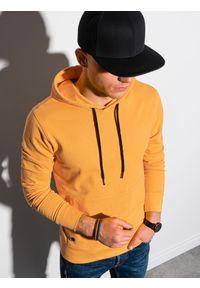 Ombre Clothing - Bluza męska z kapturem B1154 - żółta - XXL. Okazja: na co dzień. Typ kołnierza: kaptur. Kolor: żółty. Materiał: bawełna, poliester. Styl: klasyczny, casual