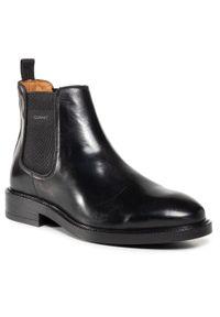 Czarne buty zimowe GANT z cholewką