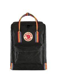Czarny plecak Fjällräven w paski