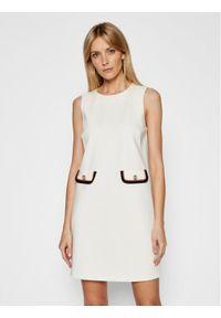Liu Jo Sukienka codzienna CA1111 J1857 Biały Regular Fit. Okazja: na co dzień. Kolor: biały. Typ sukienki: proste. Styl: casual